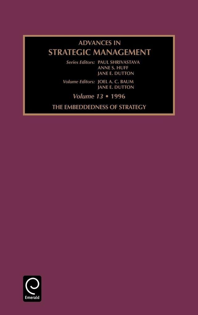 Advances in Strategic Management als Buch (gebunden)