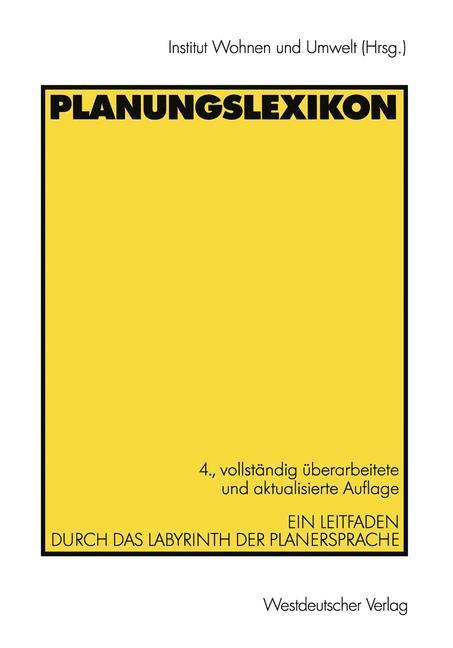 Planungslexikon als Buch (kartoniert)