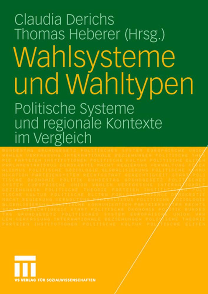 Wahlsysteme und Wahltypen als Buch (kartoniert)
