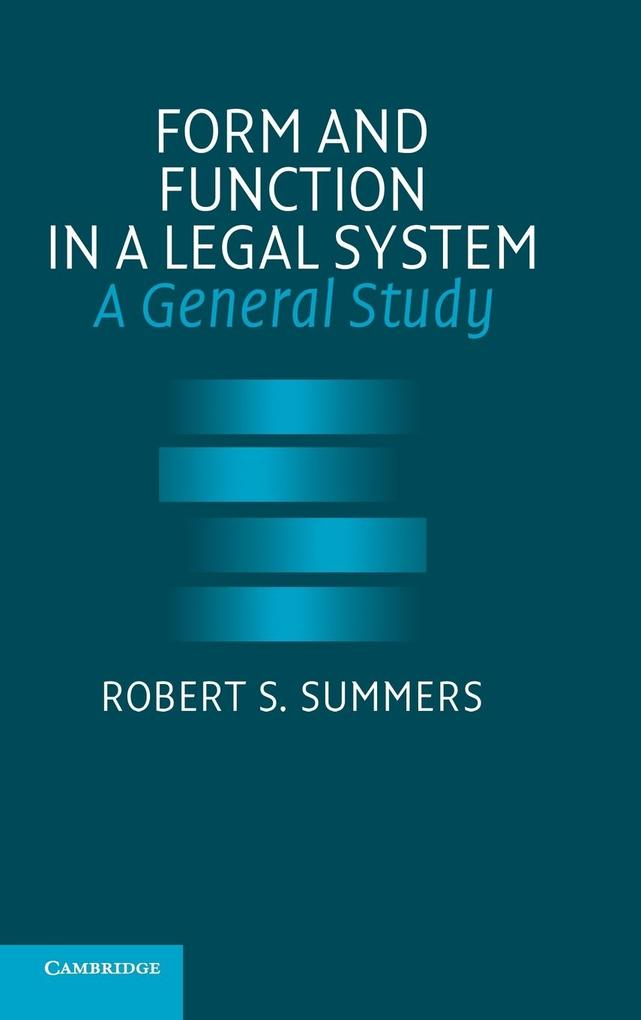 Form and Function in a Legal System als Buch (gebunden)