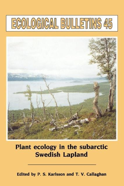 Ecological Bulletins, Plant Ecology in the Sub-Artic Swedish Lapland als Buch (gebunden)
