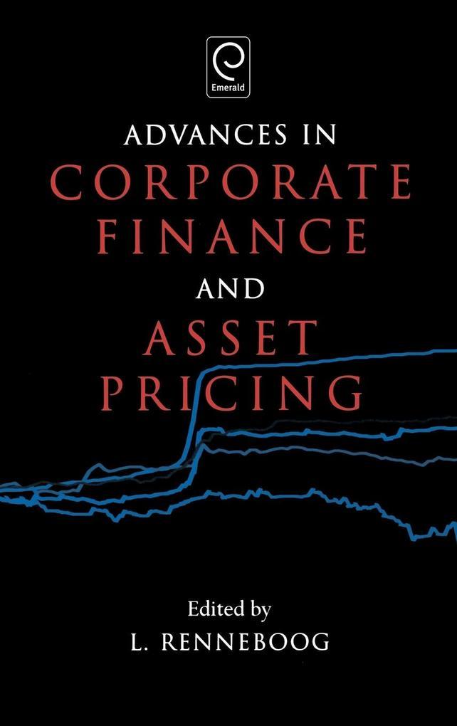 Advances in Corporate Finance and Asset Pricing als Buch (gebunden)