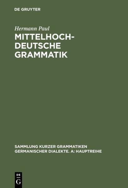 Mittelhochdeutsche Grammatik als Buch (kartoniert)