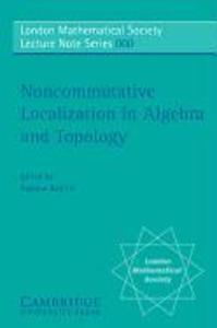 Non-Commutative Localization in Algebra and Topology als Taschenbuch