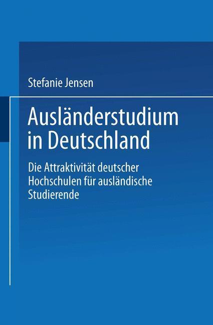 Ausländerstudium in Deutschland als Buch (kartoniert)