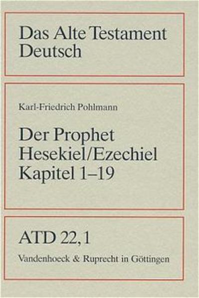 Das Buch des Propheten Hesekiel ( Ezechiel). Kapitel 1 bis 19 als Buch (kartoniert)