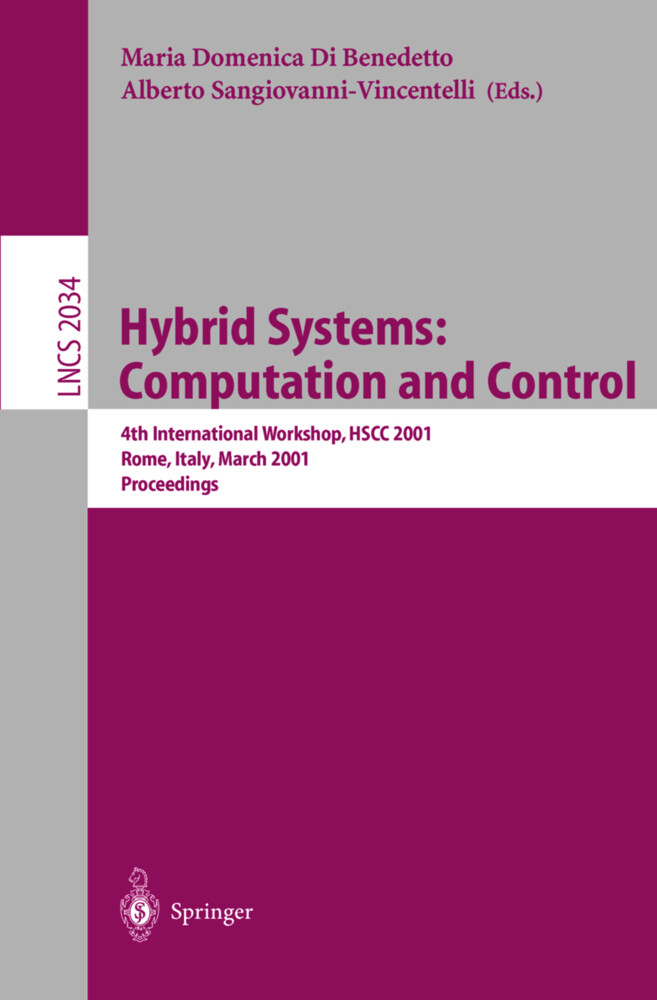 Hybrid Systems: Computation and Control als Buch (kartoniert)