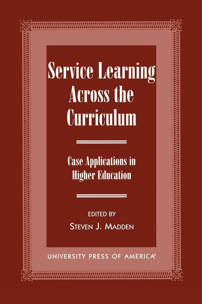 Service Learning Across the Curriculum als Taschenbuch