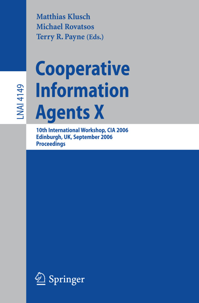 Cooperative Information Agents X als Buch (kartoniert)
