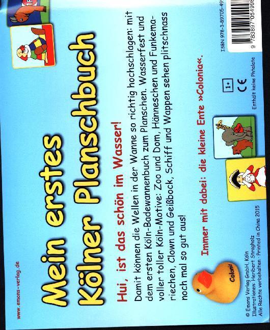 Mein erstes Kölner Planschbuch als Buch (gebunden)