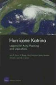 Hurricane Katrina: Lessons for Army Planning and Operations als Taschenbuch