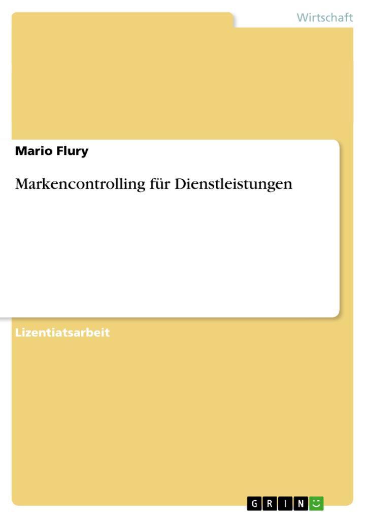 Markencontrolling für Dienstleistungen als Buch (kartoniert)