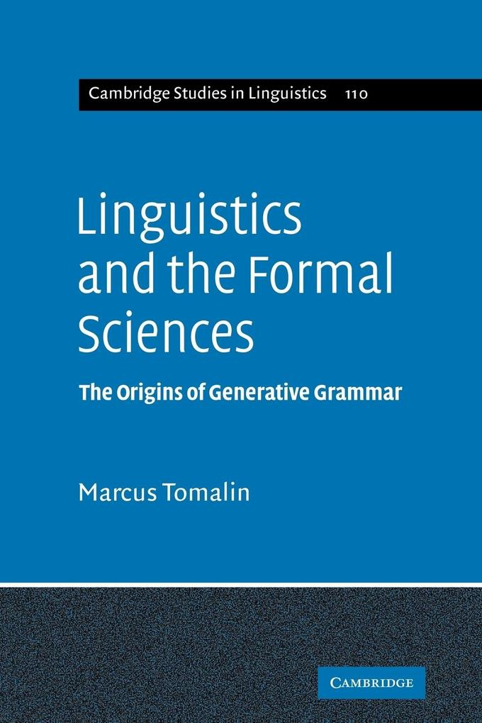 Linguistics and the Formal Sciences als Taschenbuch
