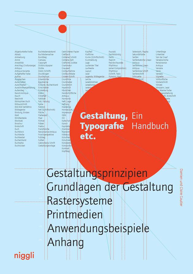 Gestaltung, Typografie etc. als Buch (gebunden)