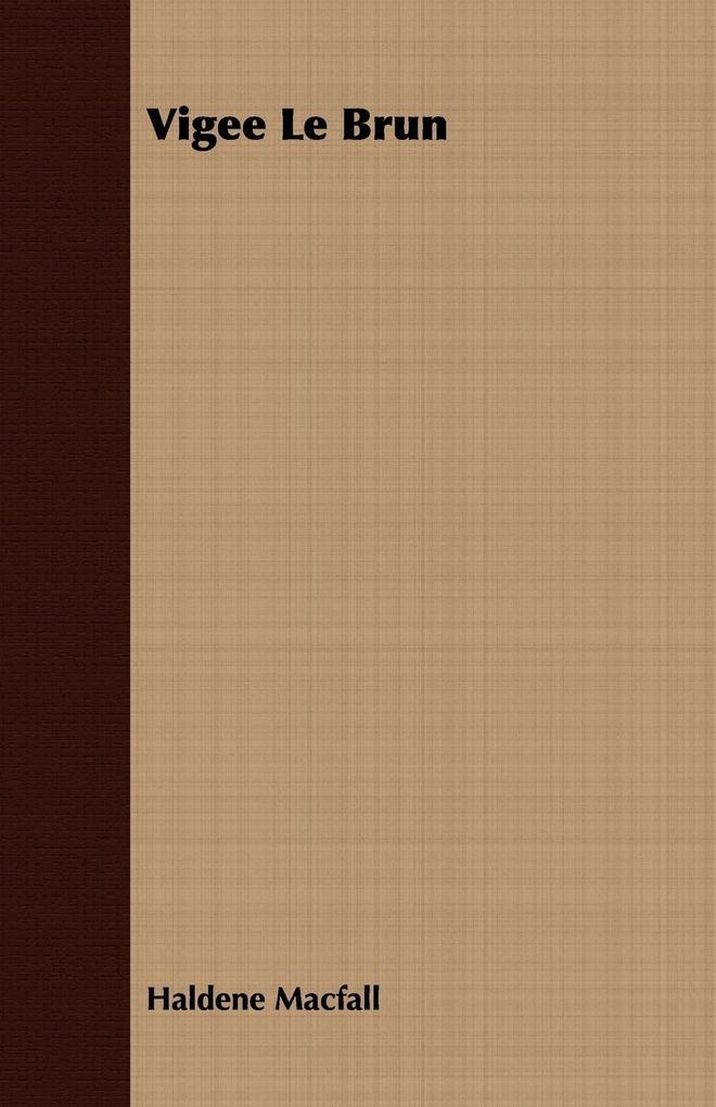 Vigee Le Brun als Taschenbuch