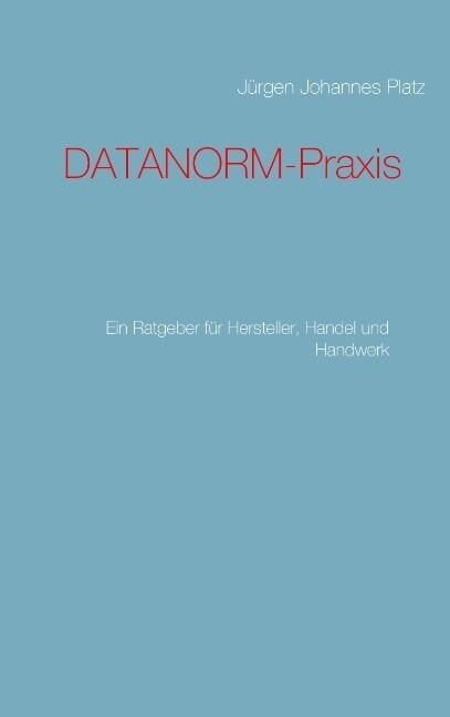 DATANORM-Praxis als Buch (kartoniert)