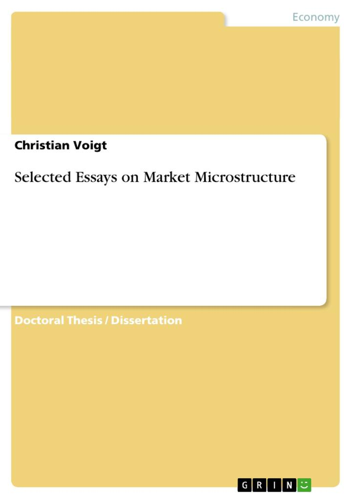 Selected Essays on Market Microstructure als Taschenbuch