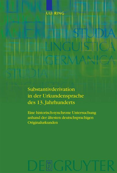 Substantivderivation in der Urkundensprache des 13. Jahrhunderts als Buch (gebunden)