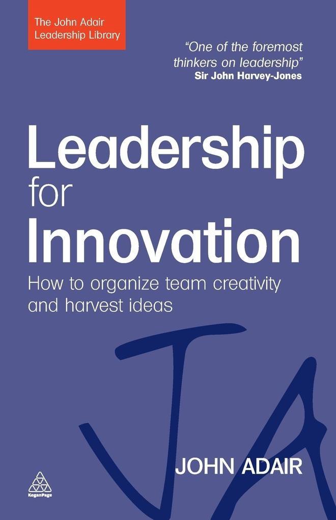 Leadership for Innovation als Taschenbuch