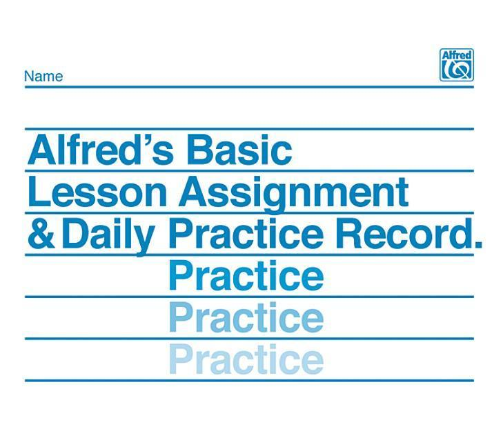 Lesson Assignment and Practice Record als Taschenbuch