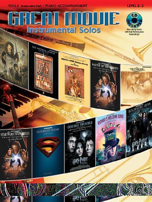 Great Movie Instrumental Solos for Strings: Viola (Includes Pull-Out String Part), Book, CD & Instrumental Part als Taschenbuch