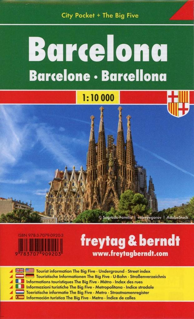 Barcelona, Stadtplan 1:10 000, City Pocket + The Big Five als Blätter und Karten