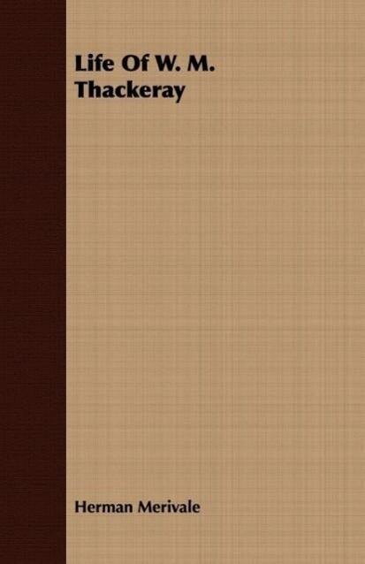 Life Of W. M. Thackeray als Taschenbuch