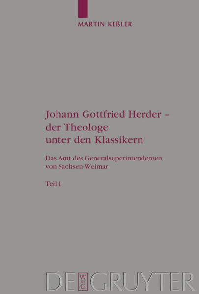 Johann Gottfried Herder - der Theologe unter den Klassikern als Buch (gebunden)