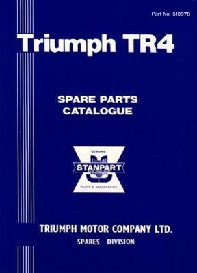 Triumph TR4 Parts Catalog als Taschenbuch