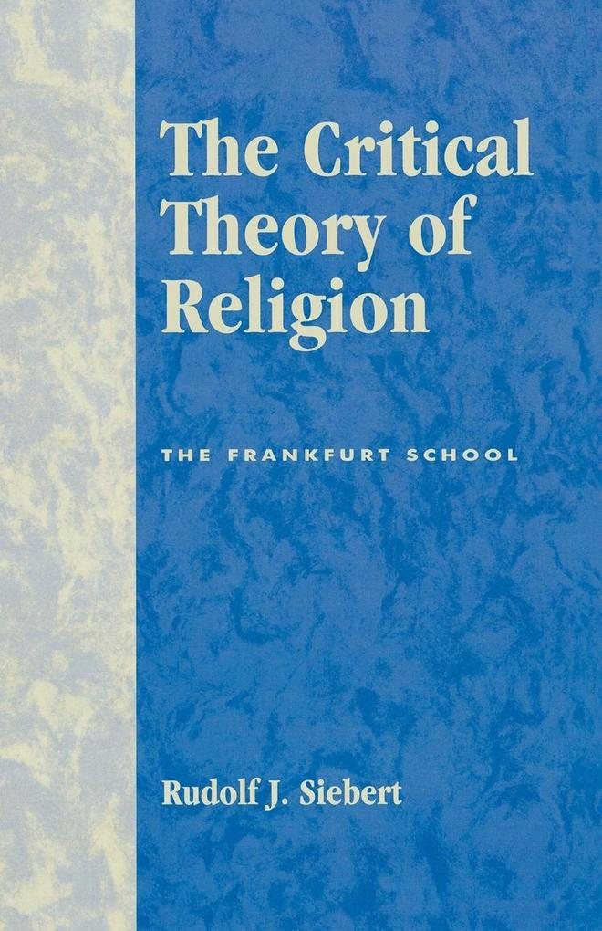 The Critical Theory of Religion als Taschenbuch