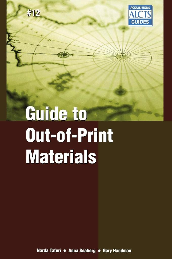 Guide to Out-of-Print Materials als Buch (kartoniert)