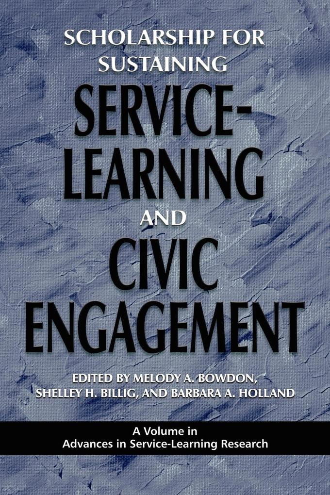 Scholarship for Sustaining Service-Learning and Civic Engagement (PB) als Taschenbuch