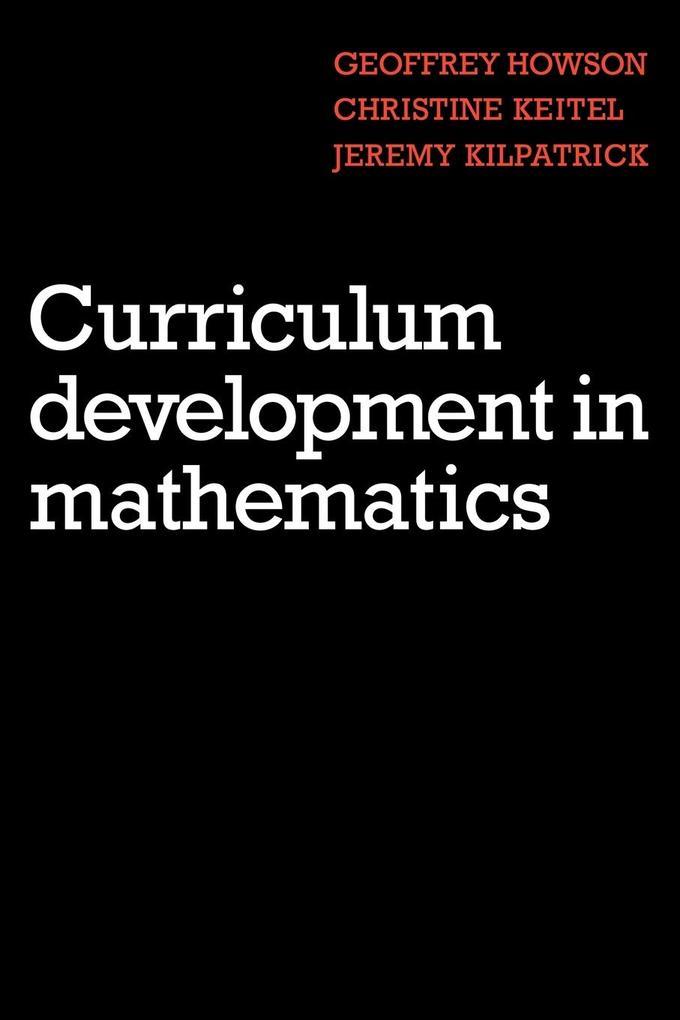 Curriculum Development in Mathematics als Taschenbuch