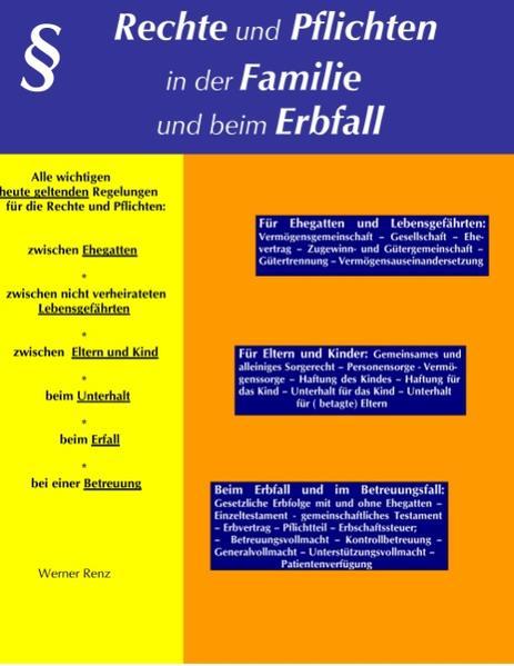 Rechte und Pflichten in der Familie und beim Erbfall als Buch (kartoniert)