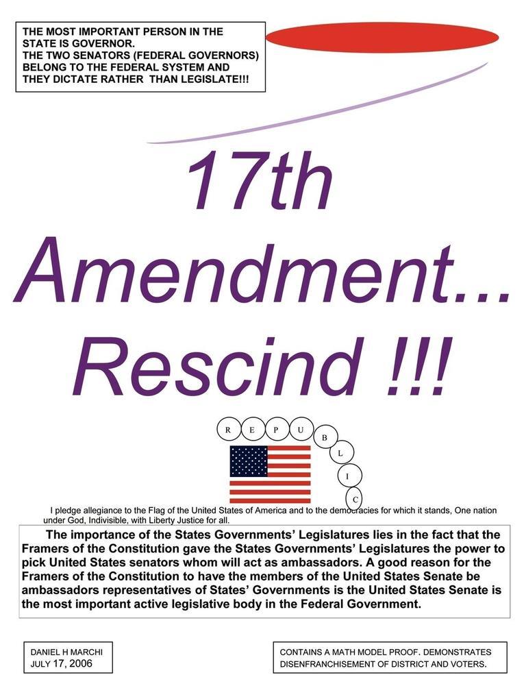 17th Amendment...Rescind!!! als Taschenbuch