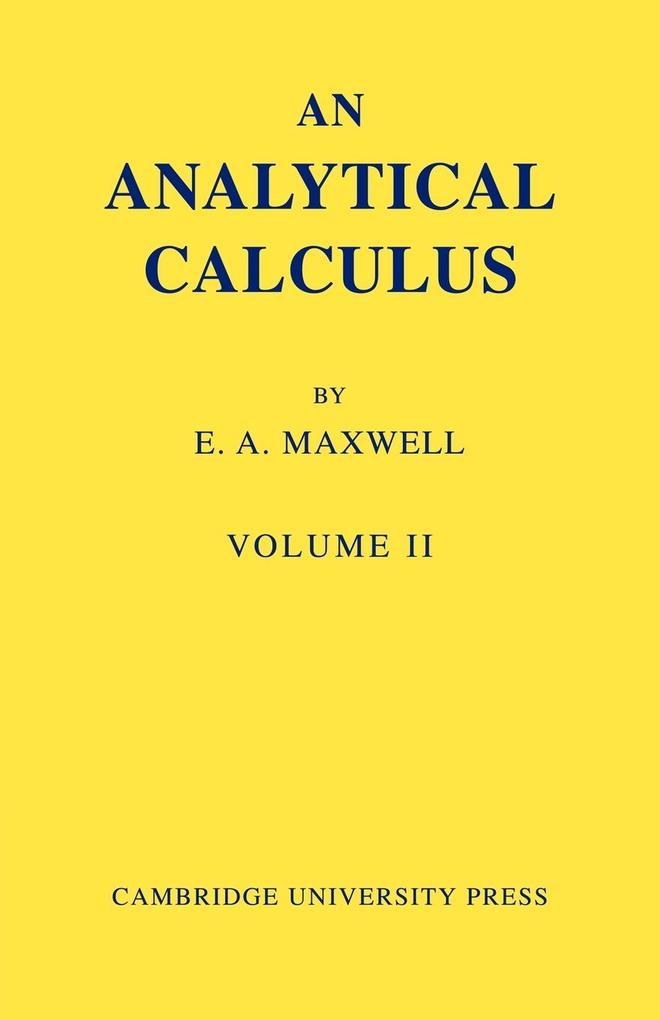 An Analytical Calculus als Taschenbuch