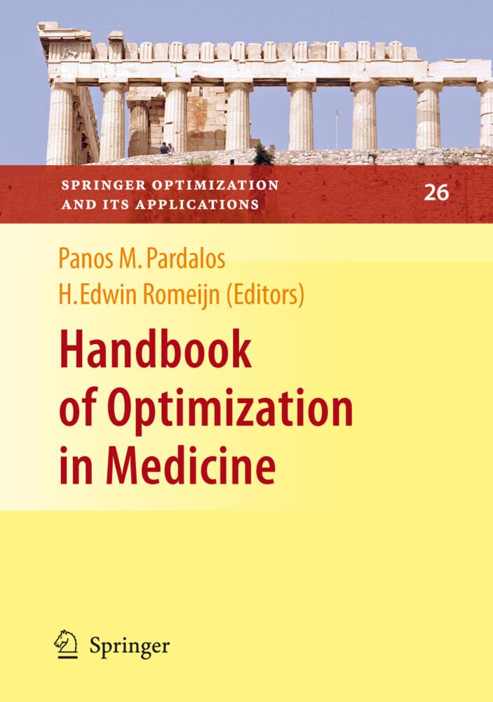 Handbook of Optimization in Medicine als Buch (gebunden)
