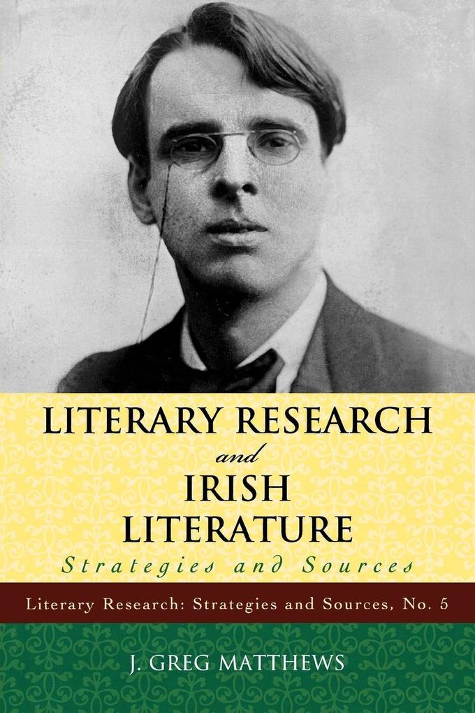 Literary Research and Irish Literature als Taschenbuch
