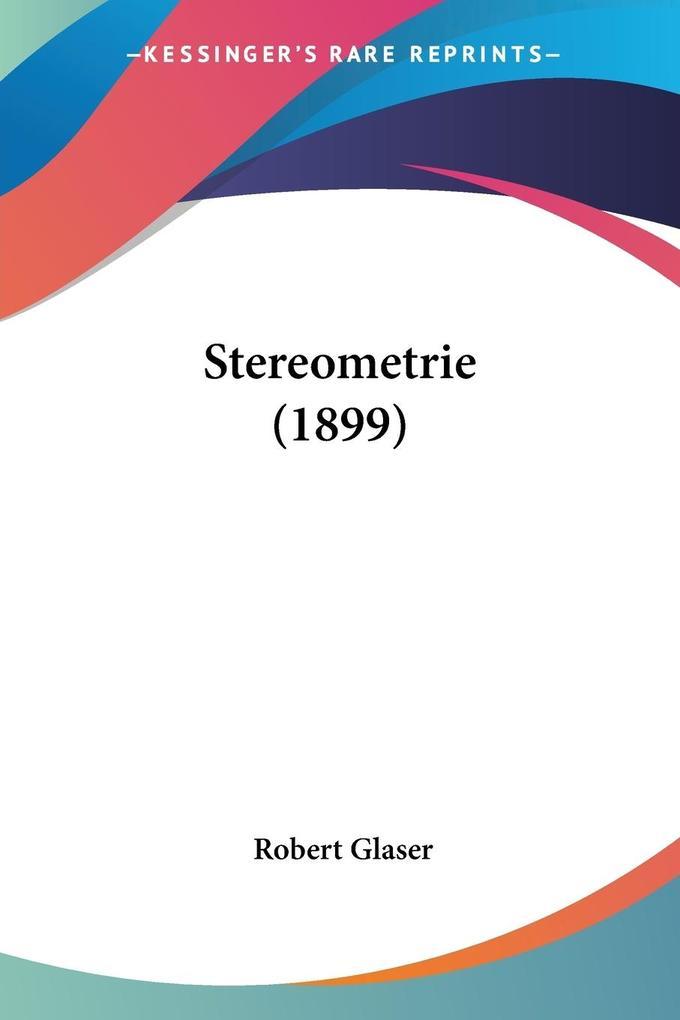 Stereometrie (1899) als Taschenbuch