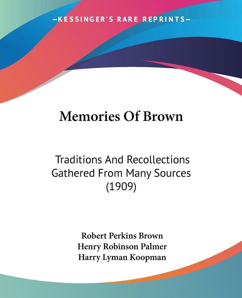 Memories Of Brown als Taschenbuch