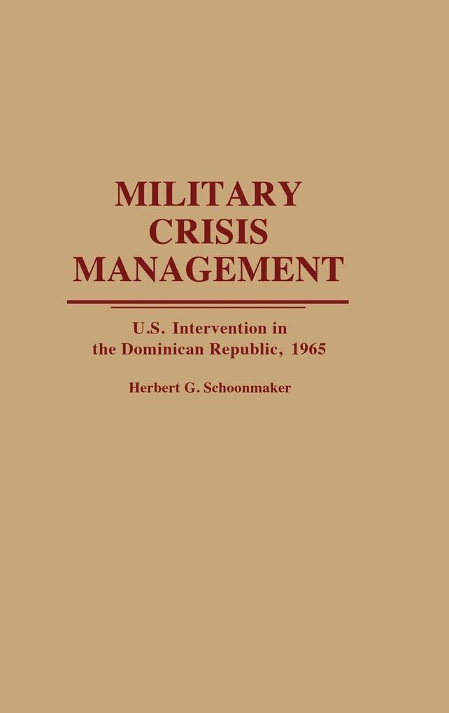Military Crisis Management als Buch (gebunden)