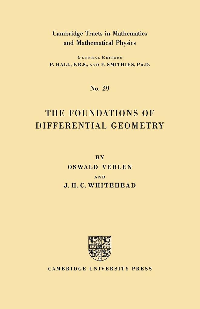 The Foundations of Differential Geometry als Taschenbuch