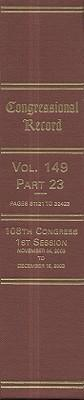 Congressional Record: Volume 149, Part 23 als Buch (gebunden)