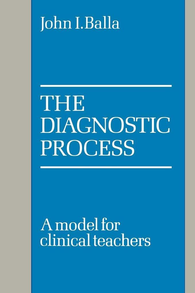 The Diagnostic Process als Taschenbuch