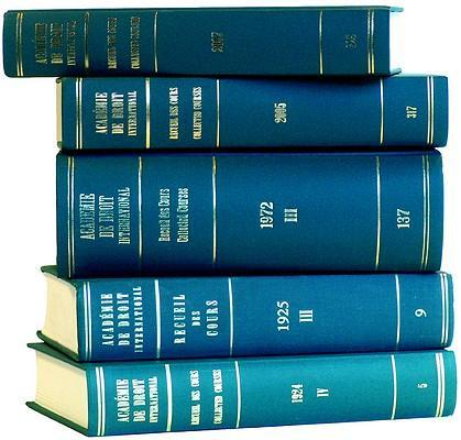Recueil Des Cours, Collected Courses, Tome/Volume 233 (1992) als Buch (gebunden)