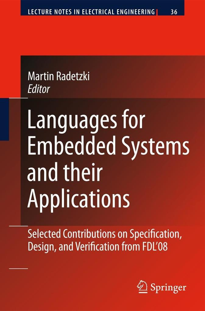 Languages for Embedded Systems and their Applications als Buch (gebunden)