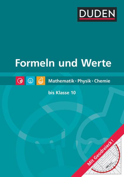 Formeln und Werte - Formelsammlung bis Klasse 10 als Buch (gebunden)