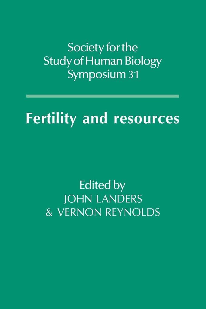 Fertility and Resources als Taschenbuch