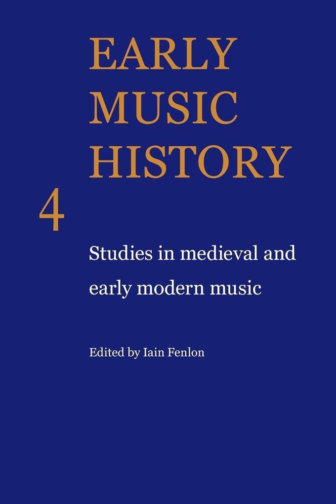 Early Music History als Taschenbuch