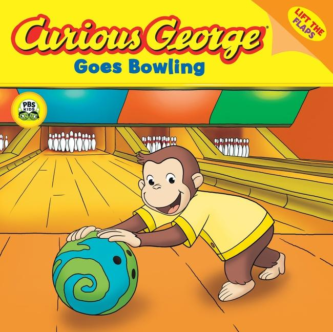 Curious George Goes Bowling (Cgtv Lift-The-Flap 8x8) als Taschenbuch